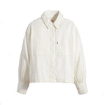 Levi's Zoey Pleat Utility Shirt <p> Ecru