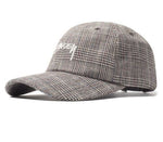 Stüssy <p>Glen Plaid Low Pro Cap <p>White Tweed