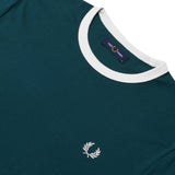 Fred Perry Ringer T-shirt <p>Petrol Blue