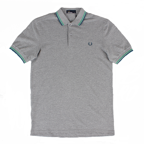 Fred Perry Twin Tipped Shirt<p>Steel Marl