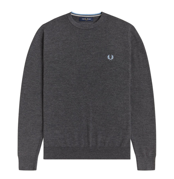 Fred Perry Crew Neck Jumper<p>Graphic Marl