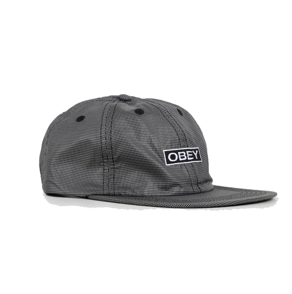 OBEY Nore 6 Panel Strapback Hat <p>Black