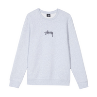 Stussy Stock Applique Crew<p>Grey Heather