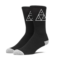 HUF Triple Triangle Crew Sock<p>Black