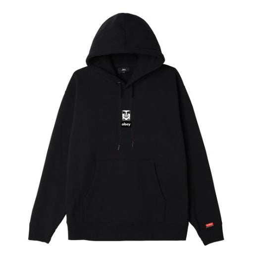 Obey Icon Face 30 Years Box Fit Hood <p>Black