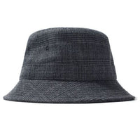 Stüssy <p>Glen Plaid Bucket Hat  <p>White Tweed