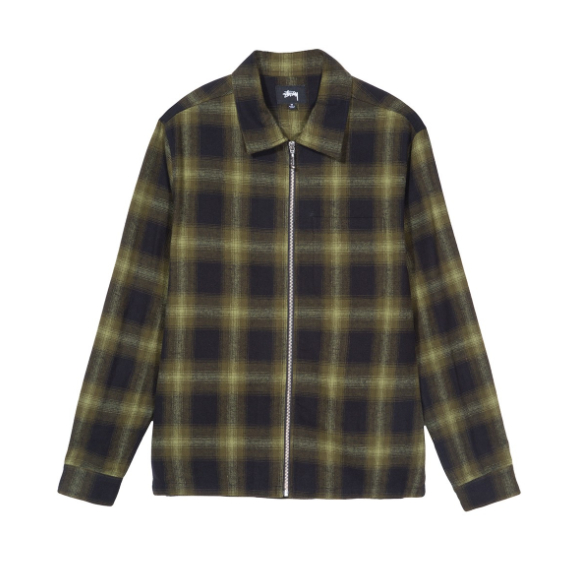 Stussy Zip Up Shadow Plaid<p>Green