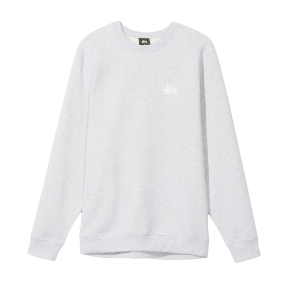 Stussy Basic Crew<p>Heather Grey