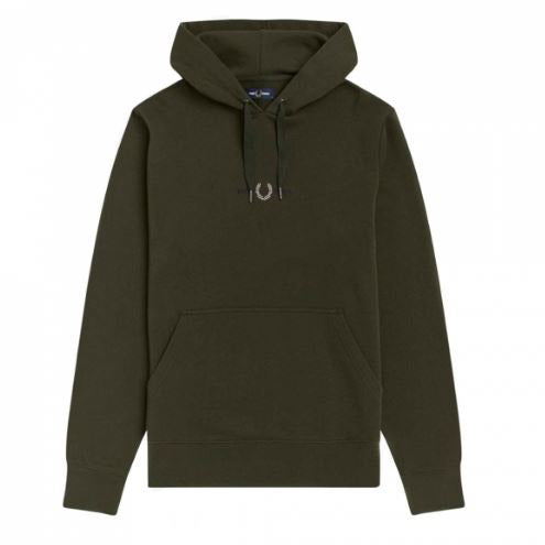 Fred Perry Embroidered Hooded Sweatshirt<p>Hunting Green