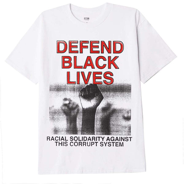 Obey Defend Black Lives Classic T-shirt <p>White