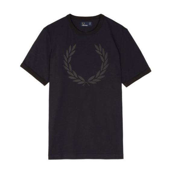 Fred Perry Laurel Wreath Print T-Shirt <p>Navy