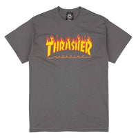 Thrasher Magazine Flame Logo T-Shirt <p> Charcoal Grey