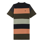 Fred Perry Striped Sweatshirt Dress <p> Black
