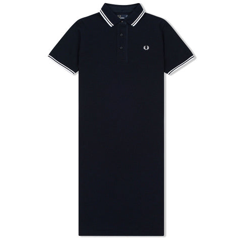 Fred Perry Oxford Trim Pique Dress <p>Navy