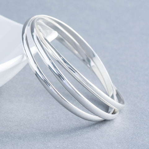 Sterling Silver 4mm Russian Bangles