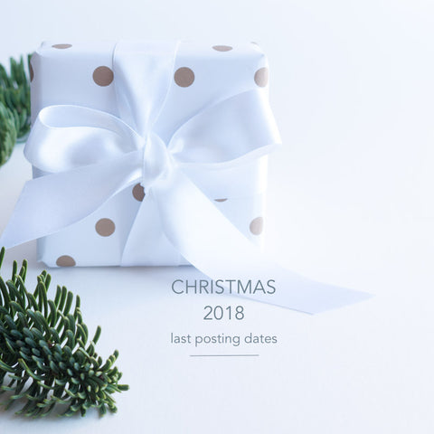 Tulip Jewellery Last Posting Dates for Christmas 2018