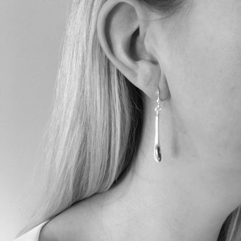 Melissa Sterling Silver Long Teardrop Long Drop Earrings