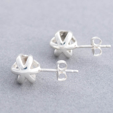 Metropolitan Entangle Sterling Silver Stud Earrings