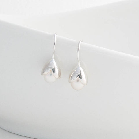 Olivia Sterling Silver Freshwater Pearl Drop Earrings