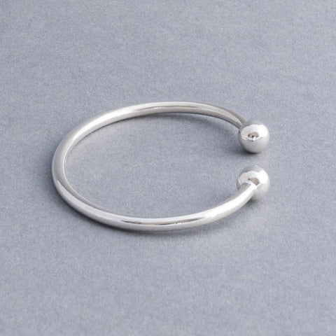 Sterling Silver Ladies Torque Bangle