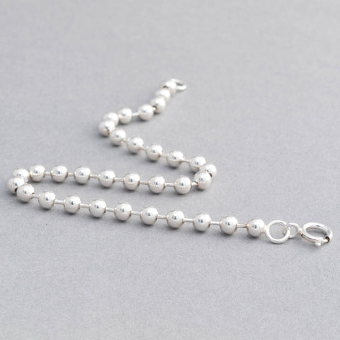 Sienna Sterling Silver 4mm Ball Chain Bracelet