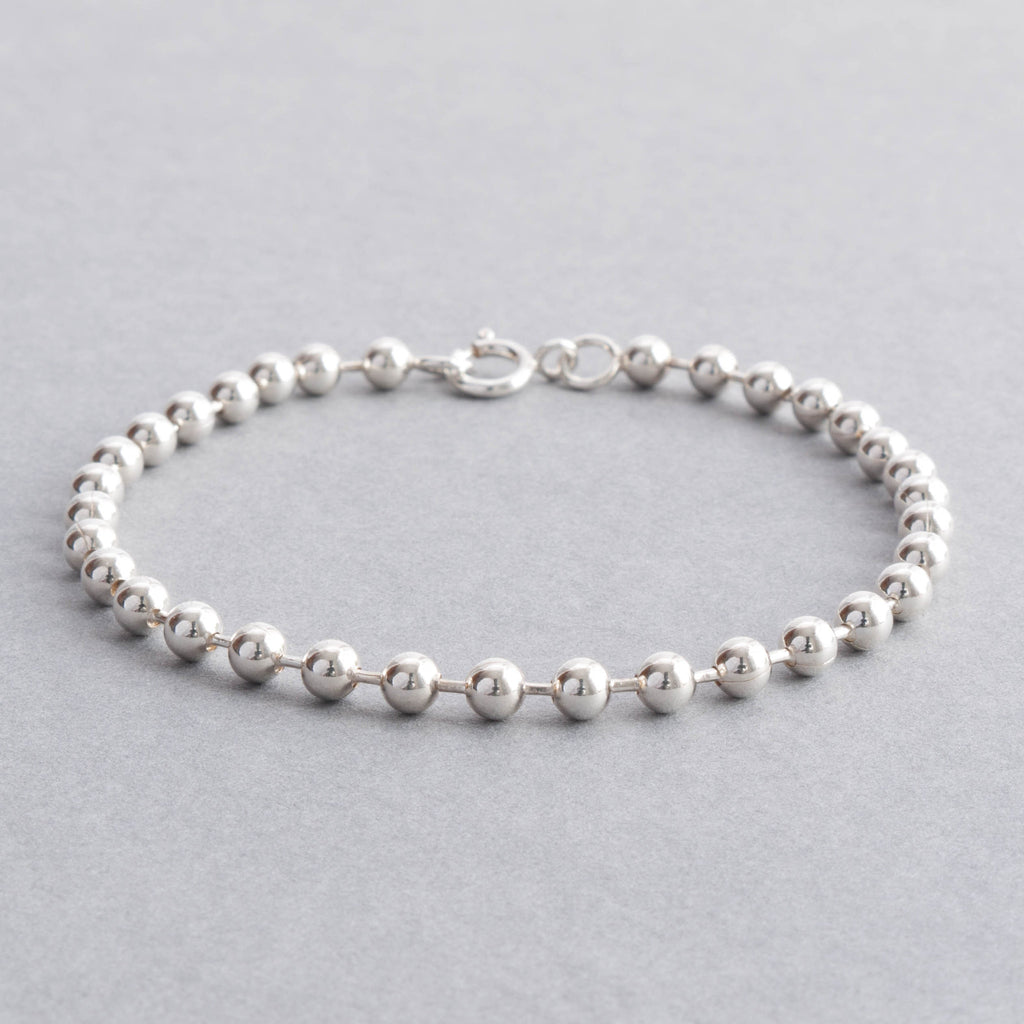products sienna tulip silver chain bracelet sterling jewellery ball