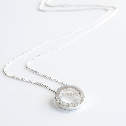 Stella Silver and Cubic Zirconia Circle Pendant