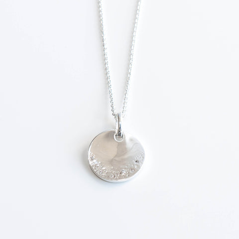 Stella Silver and Cubic Zirconia Disc Pendant