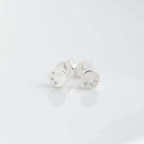Stella Silver and Cubic Zirconia Circle Stud Earrings