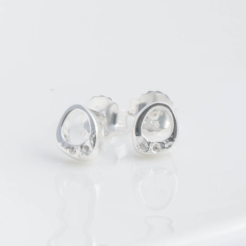 Stella Silver and Cubic Zirconia Abstract Stud Earrings