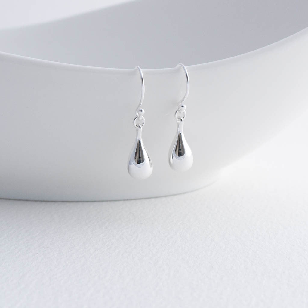 Cleo Sterling Silver Teardrop Drop Earrings