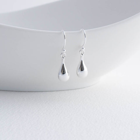 Cleo Silver Teardrop Drop Earrings