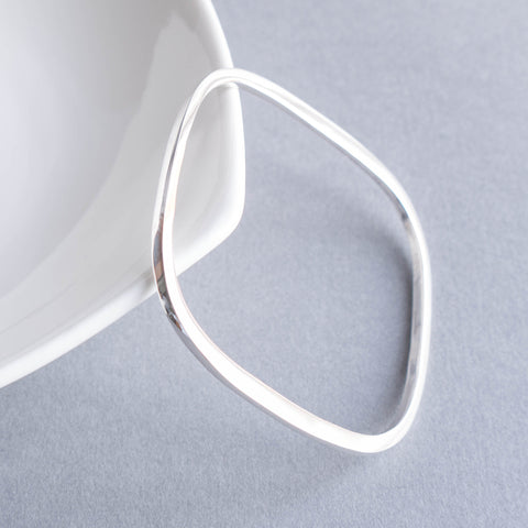Classic Silver Square Bangle