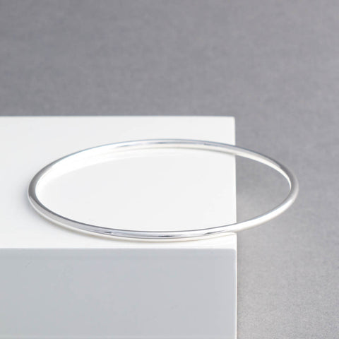 Classic Slim Sterling Silver Bangle
