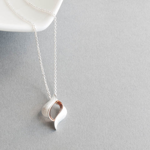 Livia Sterling Silver and Rose Gold Pendant