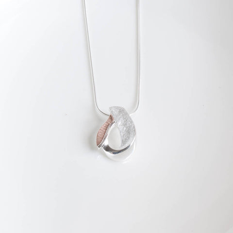 Miranda Sterling Silver and Rose Gold Necklace