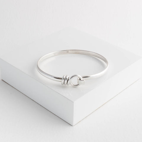 Roisin Sterling Silver Hook Bangle