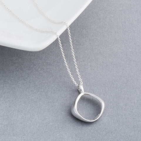 Sterling Silver Giselle Cushion Pendant Necklace