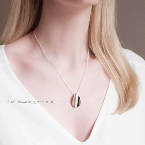 Sterling Silver Large Petal Pendant Necklace