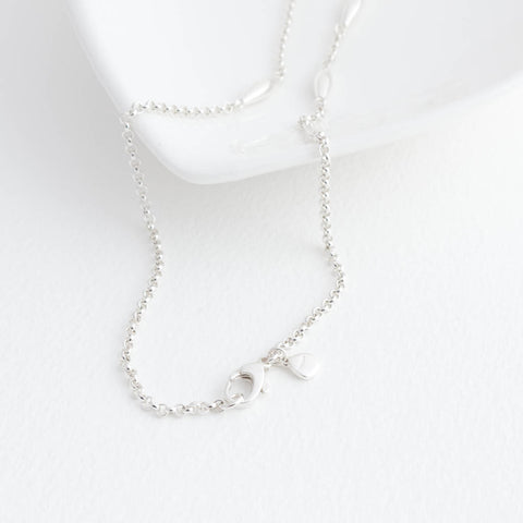 Halle Sterling Silver Oval Station Necklace