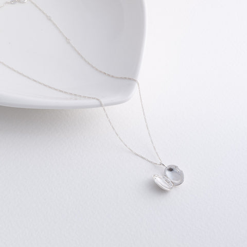 Hazel Small Oval Sterling Silver Locket