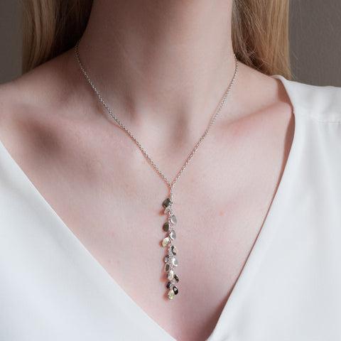Rainfall Petals Sterling Silver Necklace