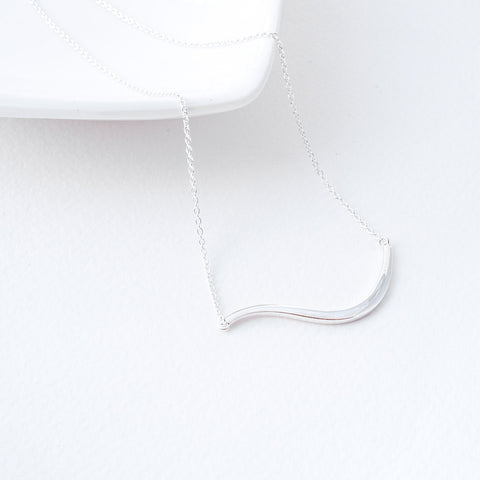 Marissa Sterling Silver Wave Necklace