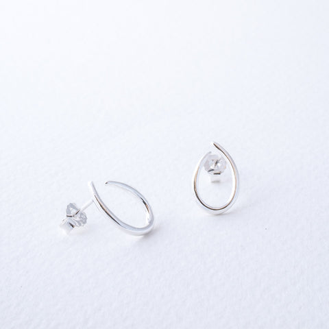 Paloma Sterling Silver Curved U Shape Stud Earrings