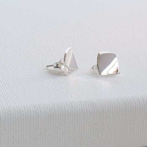 Corin Sterling Silver Flat Square Stud Earrings