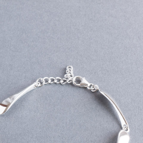 Melissa Sterling Silver Long Teardrop Bracelet