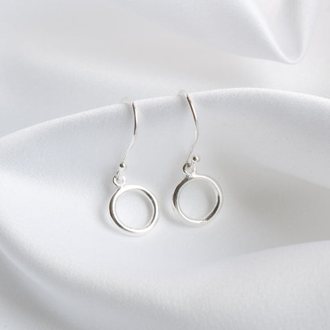 Katie Small Open Circle Drop Earrings