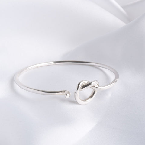 Freya Silver Open Love Knot Bangle