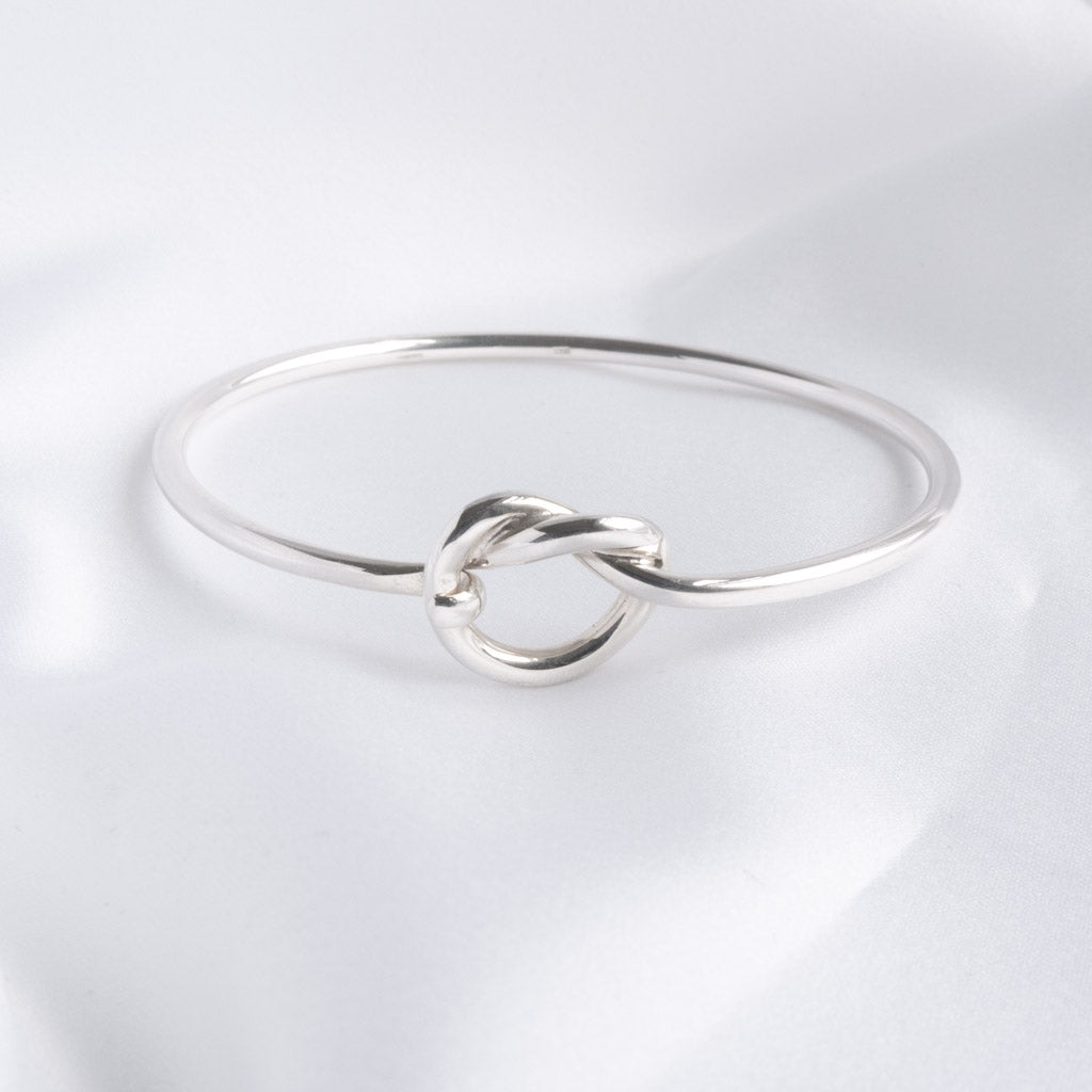 Freya Silver Open Knot Bangle