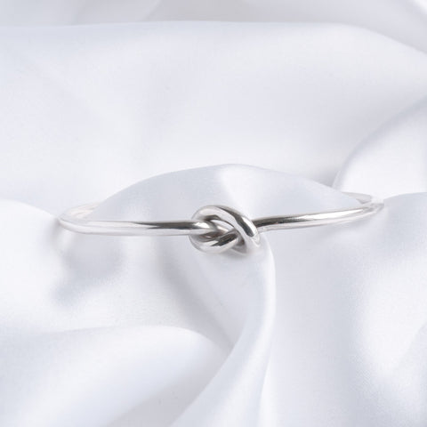 Carolyn Silver Knot Torque Bangle